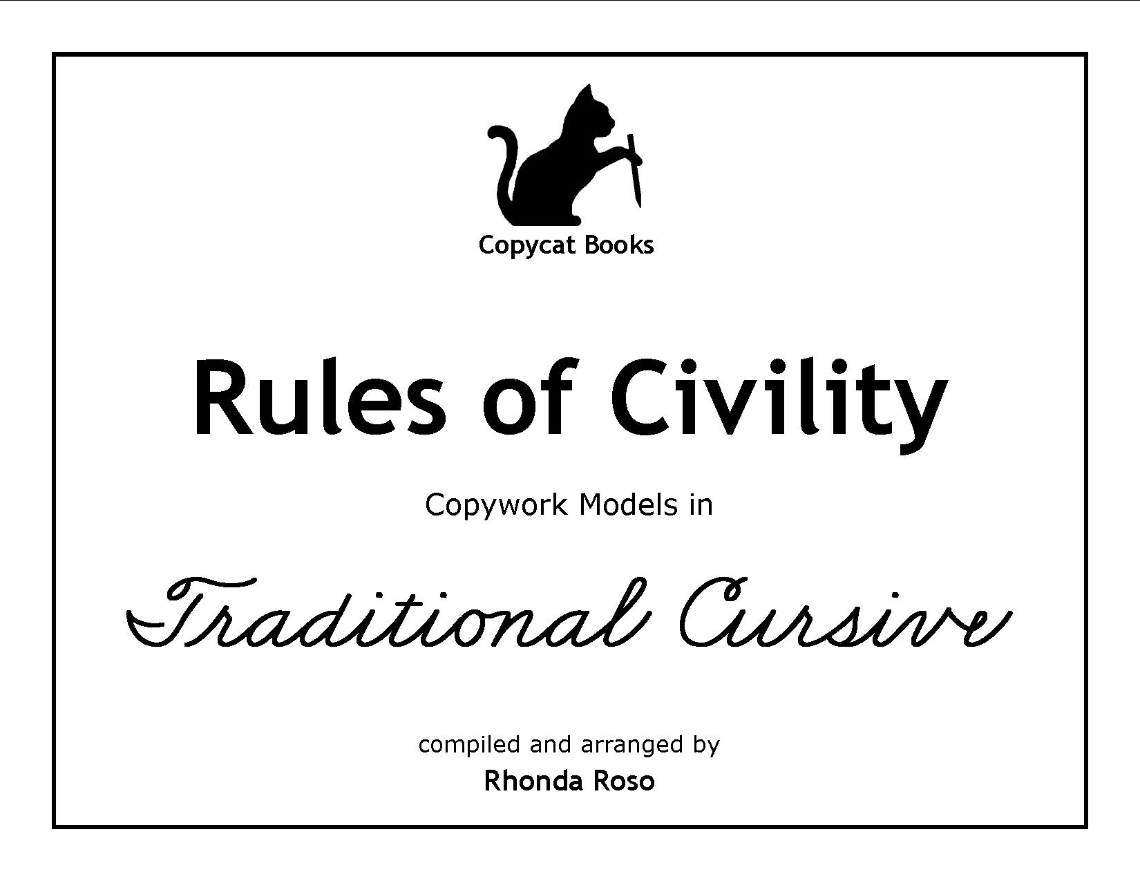 110 rules of civility